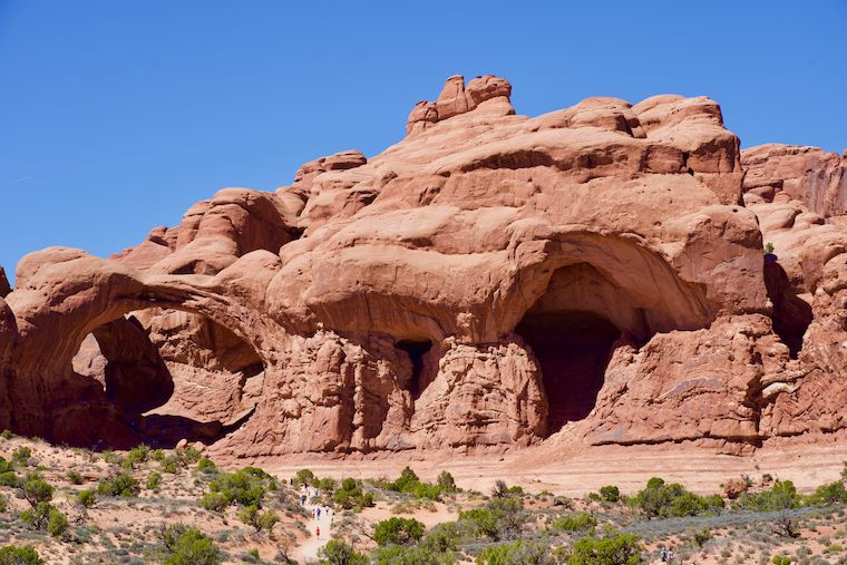 Hiking to Double Arch