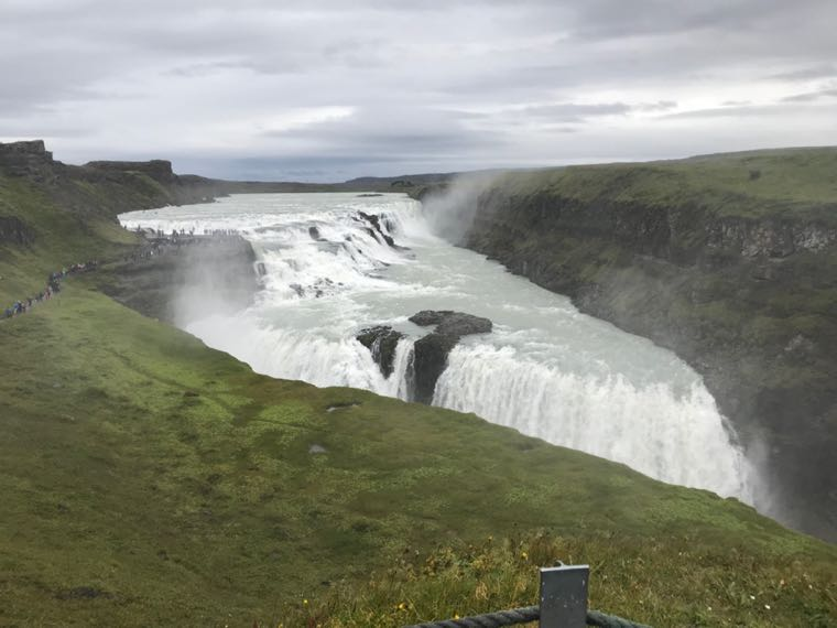 Getting Soaked by Gulfoss