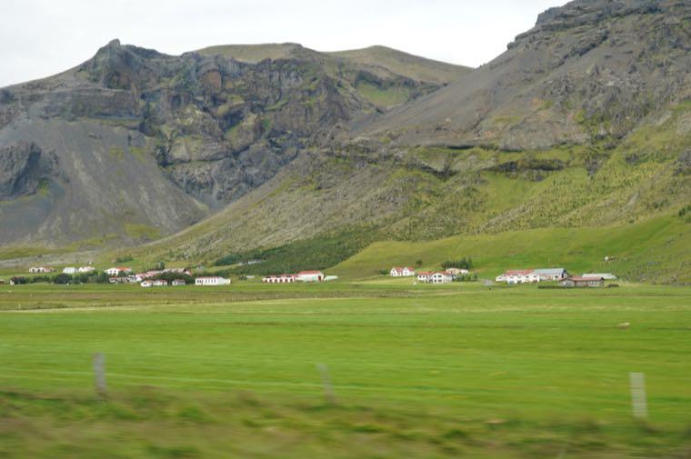 Village under the hills